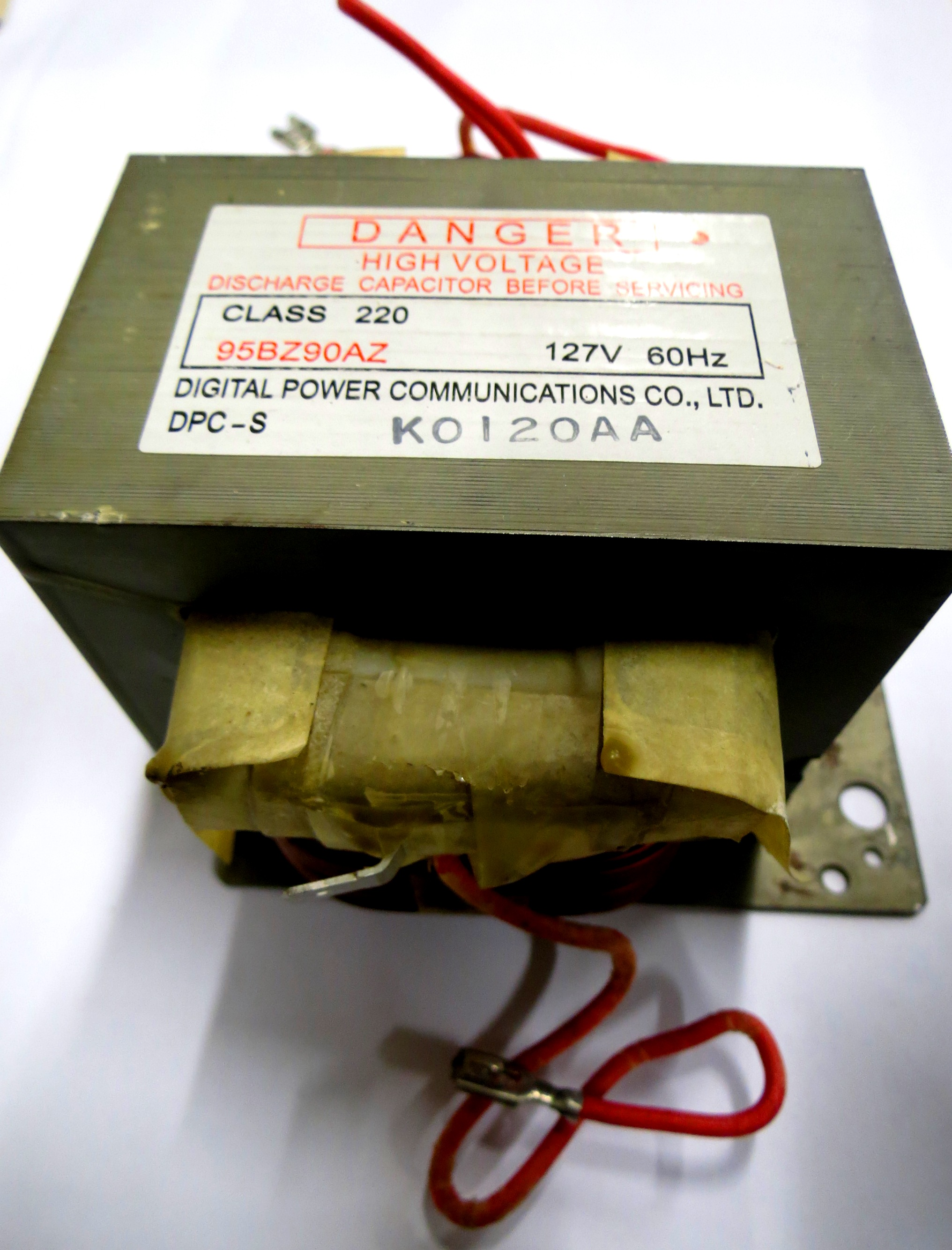 Transformador 110V 60HZ