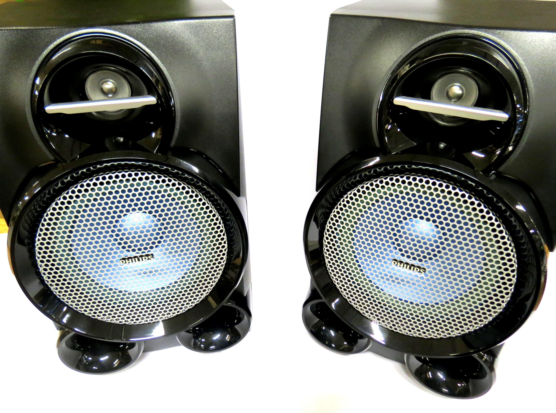 Par de Caixa Acústica Philips 6-OHMS 280WRMS